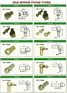Cabin - Gas Spring Fixing Types